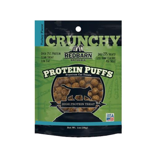 700084 ppuffs cat package front turkey rgb72dpi - Red Barn Protein Puffs Turkey Flavor Cat Treat