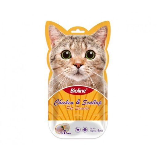 bioline cat treats chicken scallops - Bioline Cat Treats Chicken & Scallop