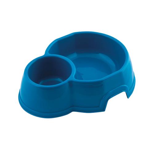 georplast mon ami double plastic pet bowl blue - Georplast Mon Ami Double Plastic Pet Bowl Blue