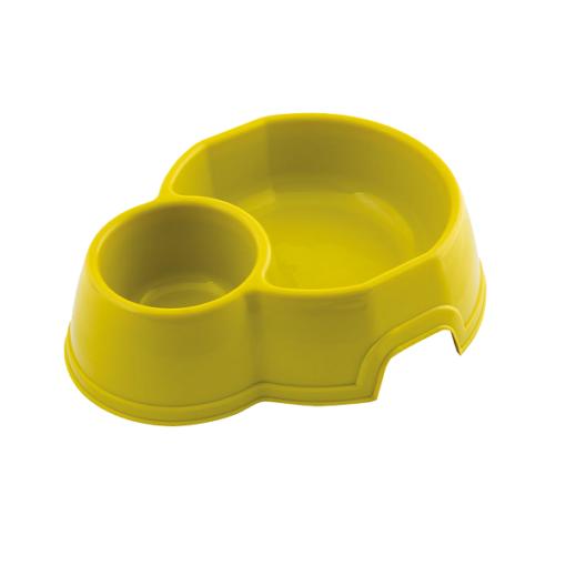 georplast mon ami double plastic pet bowl lime green - Georplast Mon Ami Double Plastic Pet Bowl Lime Green