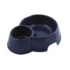 georplast mon ami double plastic pet bowl navy blue - Georplast Mon Ami Double Plastic Pet Bowl Navy Blue