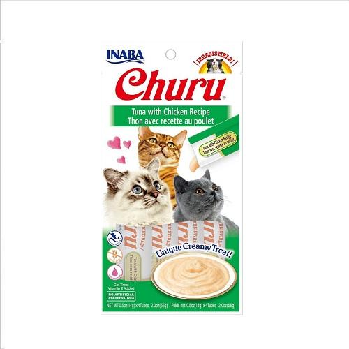usa602a churu tuna with chicken recipe rgb dd02b2c0 3e71 44af 9270 - Inaba CIAO Churu Tuna With Chicken Recipe 56g
