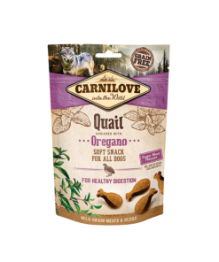 carnilove quail enriched with oregano soft snack for dogs 200g1 - Home