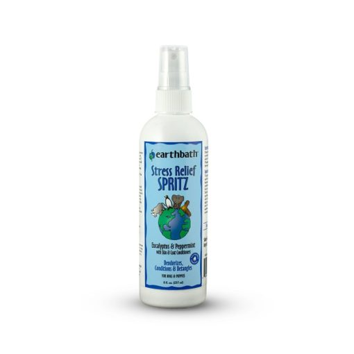 earthbath Stress Relief Spritz - Earthbath Stress Relief Spritz, Eucalyptus & Peppermint with Skin & Coat Conditioners, Made in USA, 8 oz pump spray