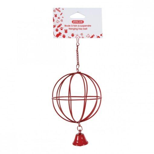 206860 - Zolux- Metallic Hanging Hay Ball - Red