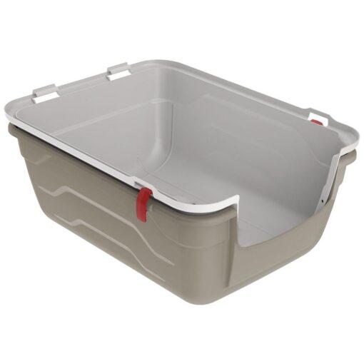 25 1 - Georplast Roto-Toilet Cat Litter Box Grey