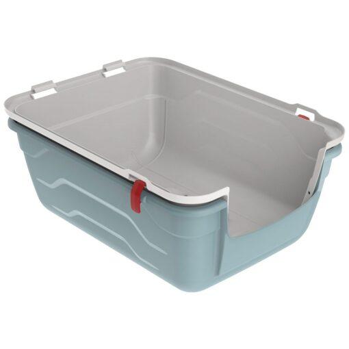 27 1 - Georplast Roto-Toilet Cat Litter Box Blue