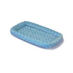 2881 - Quiet Time Deluxe Fleece Double Bolster Bed Blue