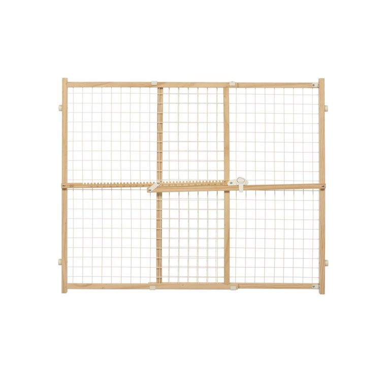 """2926 - 32"""" Tall Wood And Wire Mesh Pet Gate"""