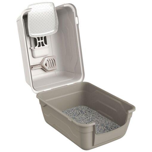 29 1 - Georplast Roto-Toilet Cat Litter Box Grey