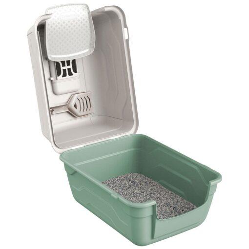 30 8 - Georplast Roto-Toilet Cat Litter Box Green