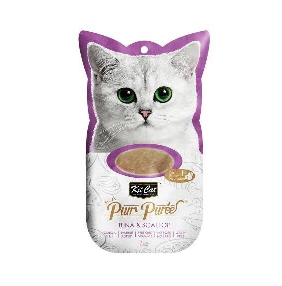 3106 - Kit Cat - Purr Puree Tuna & Scallop (4x15g)
