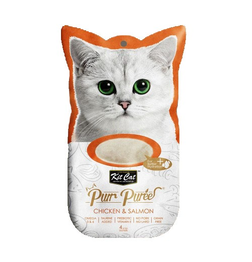 3107 - Kit Cat - Purr Puree Chicken & Salmon (4x15g)