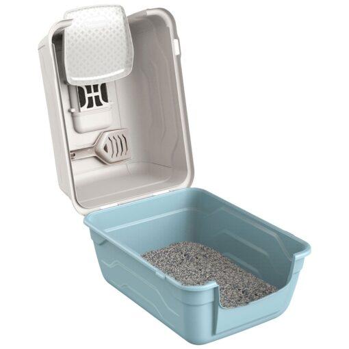 31 1 - Georplast Roto-Toilet Cat Litter Box Blue