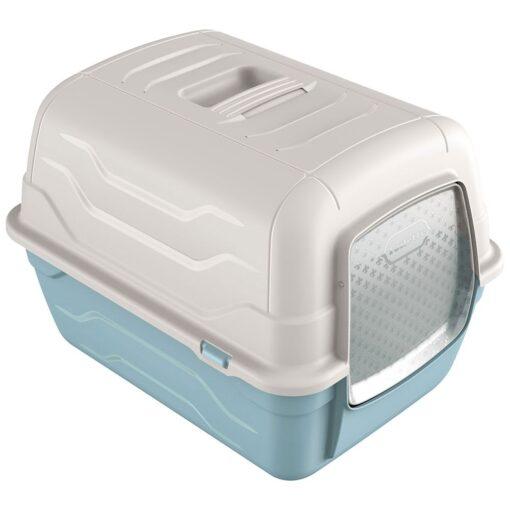 35 1 - Georplast Roto-Toilet Cat Litter Box Blue