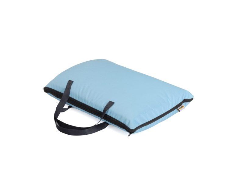4028 - Cuscino Portatile Borsa Tracolla Azzurra (95x65x7) (70x45x13)