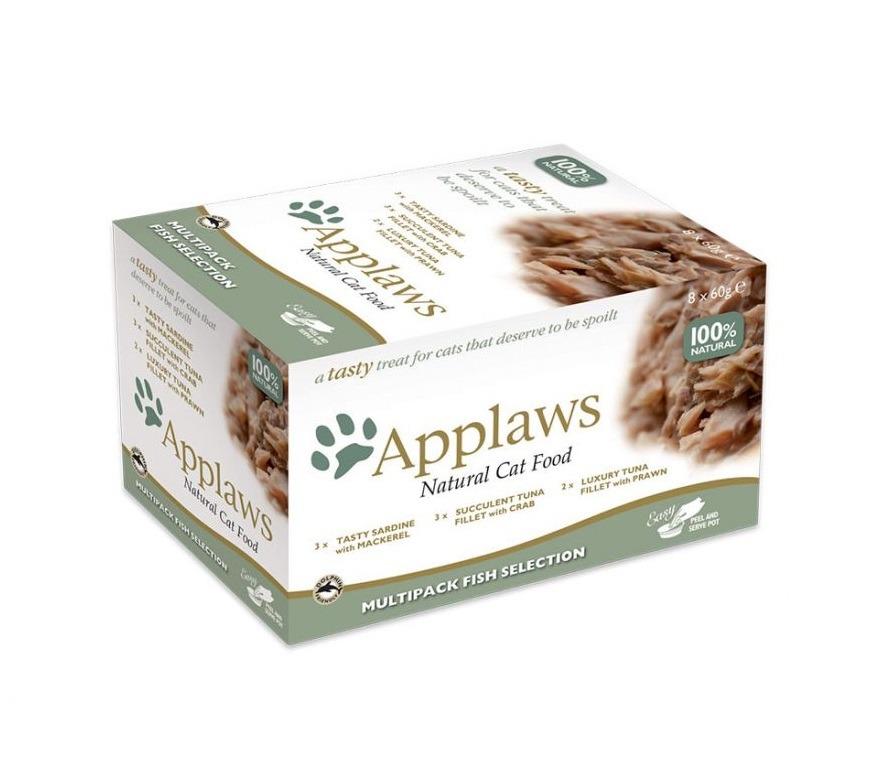 496124 - Applaws - Cat Mutipack Fish Selection (8 x 60g)