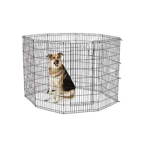 """5 6 - Midwest Homes - 48"""" Black Exercise Pen With Full MAX Lock Door"""