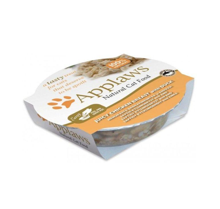 5060122494830 al - Applaws Cat Wet Food - Chicken&Duck Pot (60g)