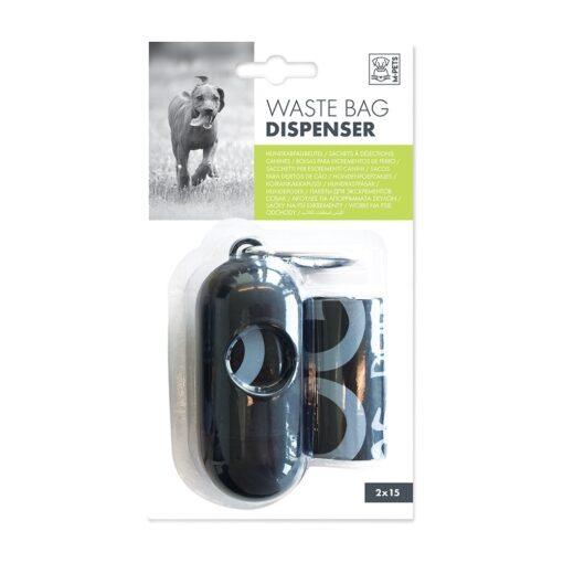 5415341002814 - M Pets Waste Bag Dispenser Black +30 Bags (2x15)