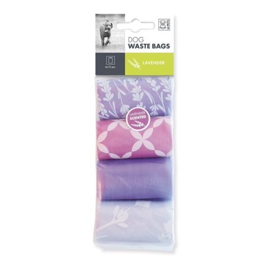 5415341002982 - M Pets Dog Waste Bags Lavender Scented 60 Bags (4x15)