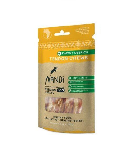 6009880836147 - Nandi - Karoo Ostrich Tendon Chews 100g