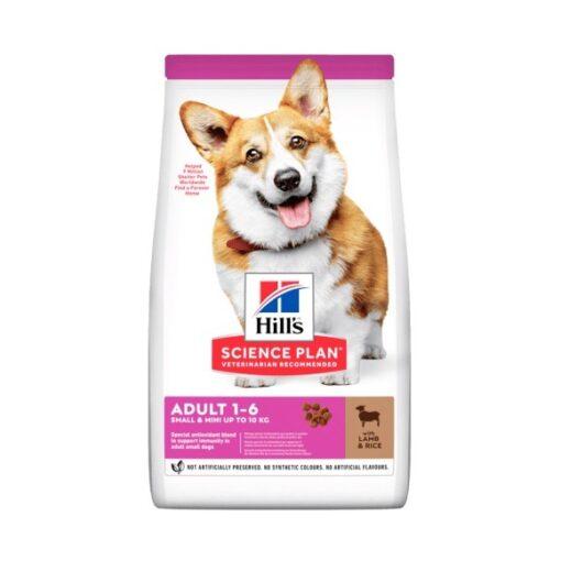 604235 small mini adult dog food - Hill's Science Plan - Small & Mini Adult Dog Food With Lamb & Rice