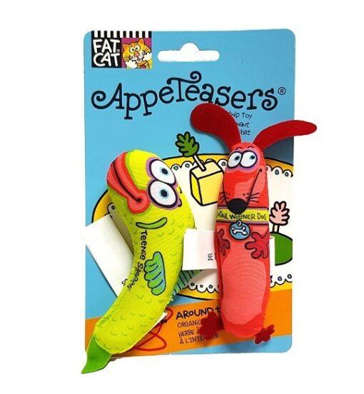 650027 cat classic appeateaser green red 1 - Petmate Fat Cat Classic Appeteasers Green & Red