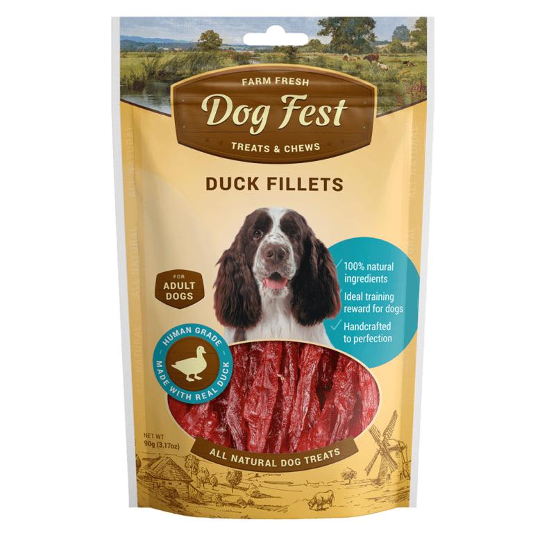 69214997112291 - Dog Fest Duck Fillets 90g - Meaty Treats
