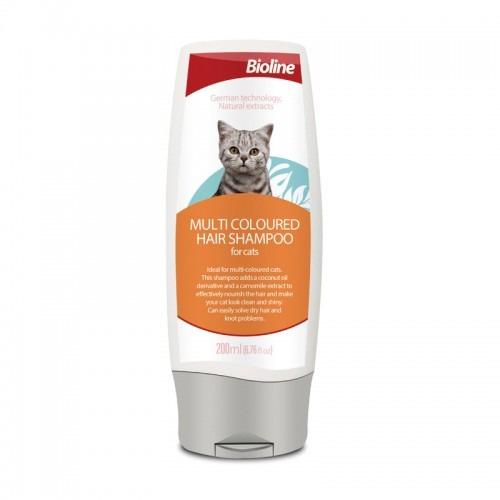 6970117123876 500x500 1 - Bioline Multi Coloured Hair Shampoo For Cat 200ml