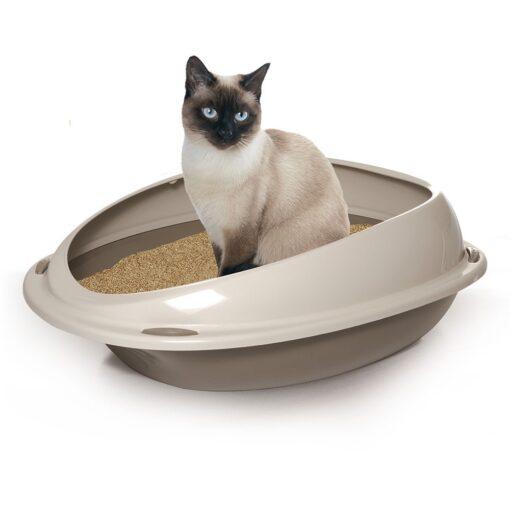 72 - Georplast – Shuttle Cat Litter Tray Grey
