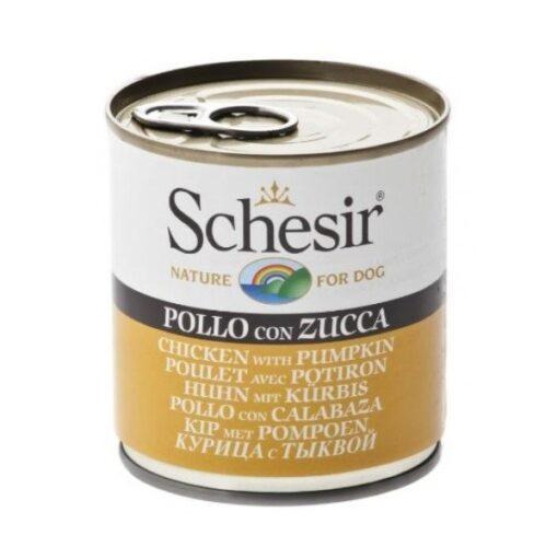 8005852280213 500x500 2 - Schesir - Dog Can Chcicken With Pumpkins 285gm