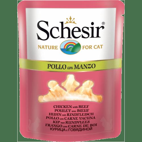 Schesir Cat Pouch Broth, Chicken With Beef 70gm