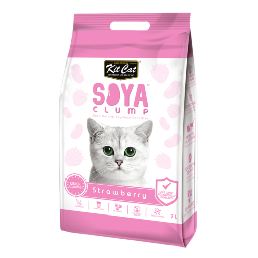 840cede55b56a5f0c720b5c7afa3fead - Kit Cat Soya Clump Soybean Litter - Strawberry 7L