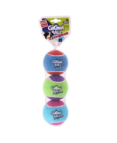 846295062909 - GiGwi Ball - Originals L (3pk)