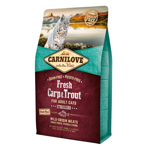 8595602527441 - Carnilove Fresh Carp & Trout For Adult Cats 2kg