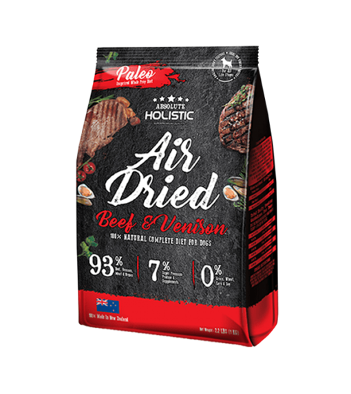 AD 2003 beef venison - Absolute Holistic - Air Dried Dog Diet - Beef & Venison 1kg
