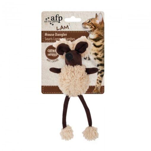 AFP Lambswool Mouse Dangler - Brown