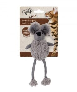 AFP Lambswool Mouse Dangler Grey