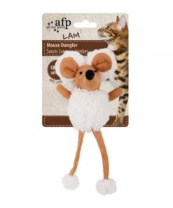 AFP Lambswool Mouse Dangler Tan