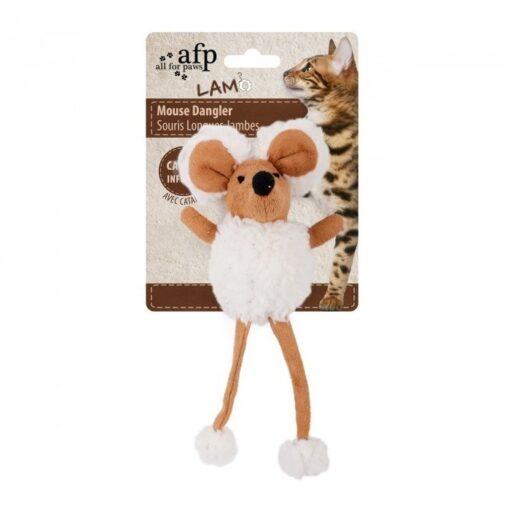 AFP Lambswool Mouse Dangler Tan