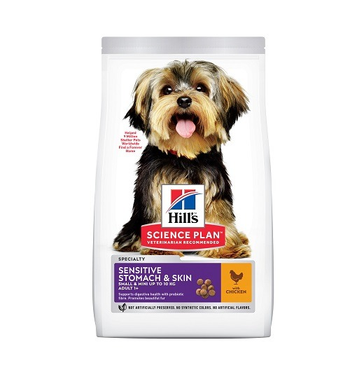 Adult SM Stomach Skin Chicken - Hill's Science Plan - Sensitive Stomach & Skin Small & Mini Adult Dog Food With Chicken
