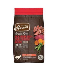 Merrick Grain Free Real Bison, Beef + Sweet Potato Recipe