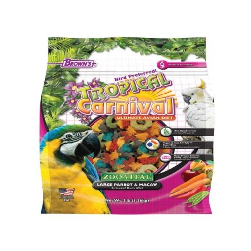 Browns Extruded Parrot Macaw Food 1.36kg - Browns Extruded Parrot & Macaw Food