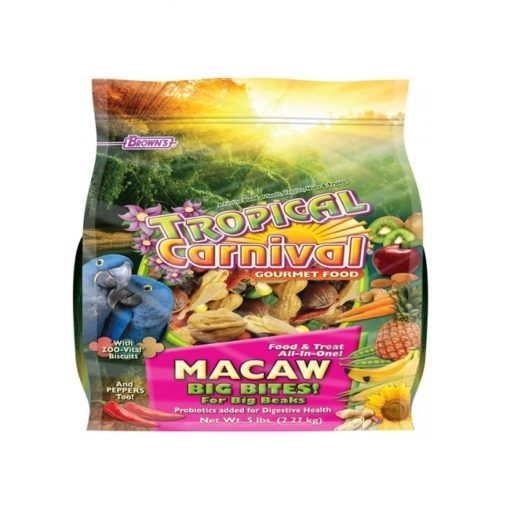 Browns Macaw Food Big Bites 2.27 Kg - Browns Macaw Food Big Bites