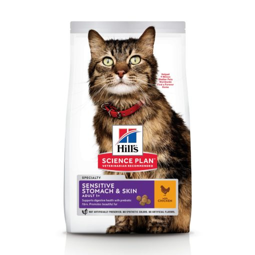 CAT Adult Stomach Skin Chicken Ongoing Front Packaging 1 - Hill's Science Plan - Sensitive Stomach & Skin Adult Cat Food With Chicken
