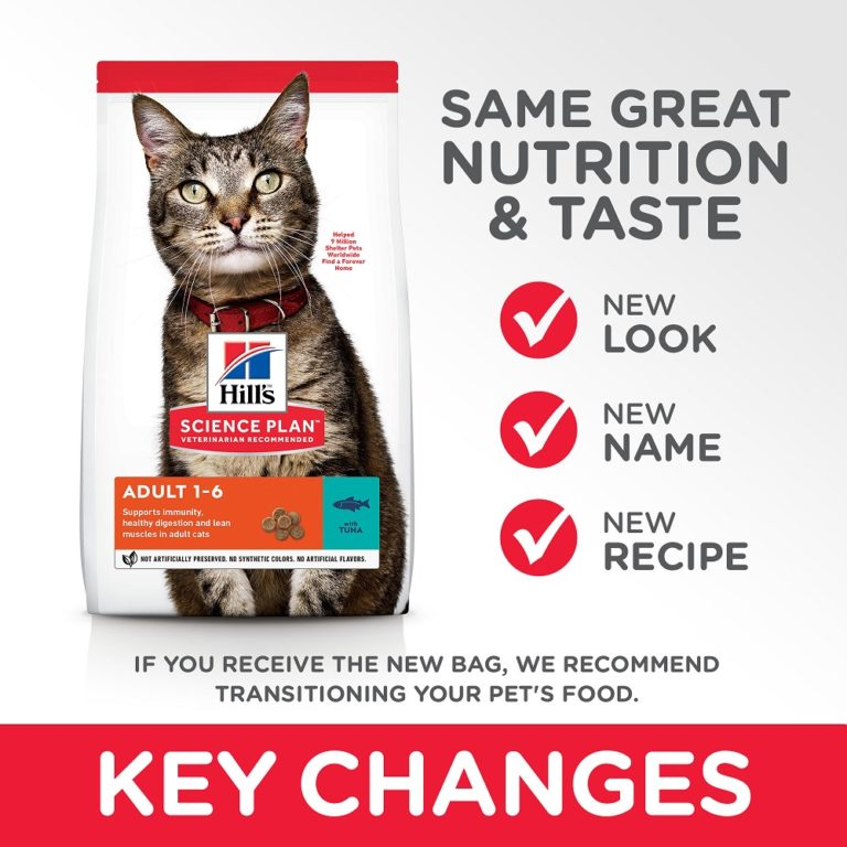 CAT Adult Tuna Transition Summary of Changes - Hill's Science Plan - Adult Cat Food With Tuna