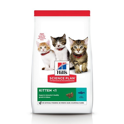 CAT Kitten Tuna Ongoing Front Packaging 1 - Hill's Science Plan – Kitten Food With Tuna (1.5kg)