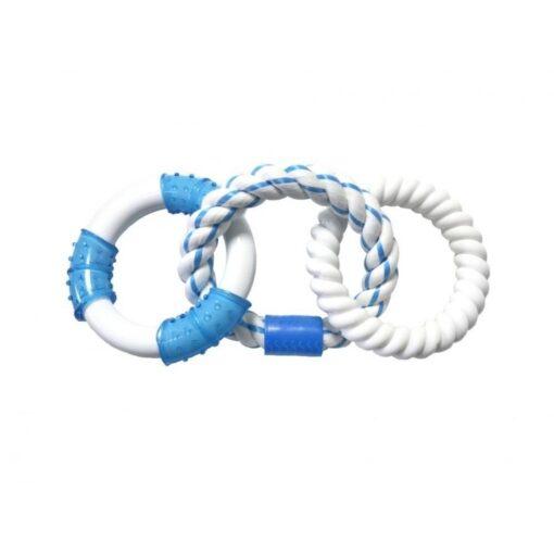 CHWB15428B - Chomper - Triple Rings Rope - Blue