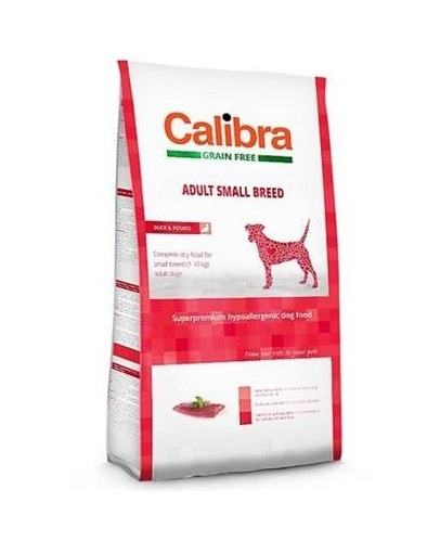 Calibra Sp Dry Dog Grain Free Adult Small Breed Duck 2kg - Calibra - Sp Dry Dog Grain Free Adult Small Breed Duck